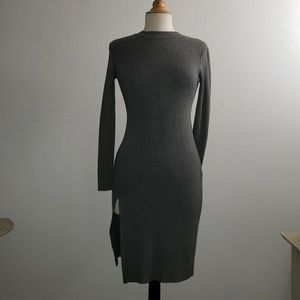 Designed in Paris JCL Gray Sweater Dress